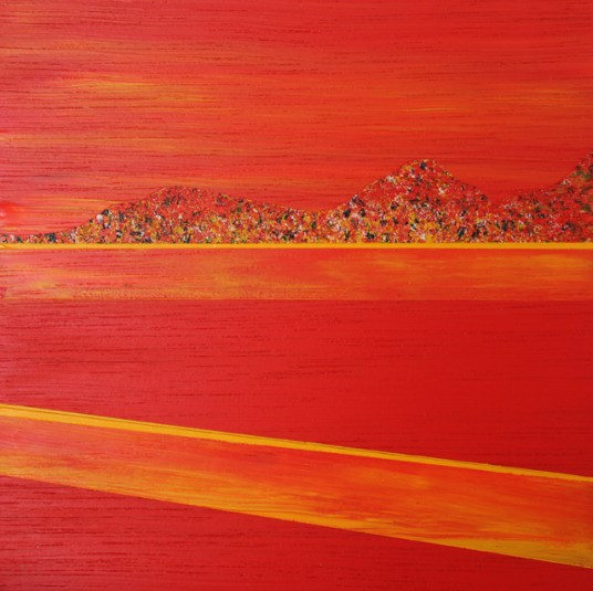 Mini Eildon's evening sun - sold