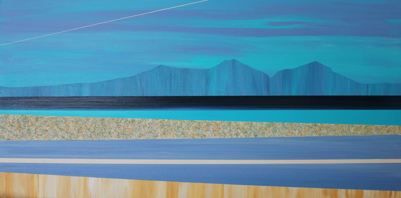 Over the fields towards the Eildon's - sold