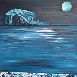 What a marvelous night ... acrylic on board, 40cm x 40cm
