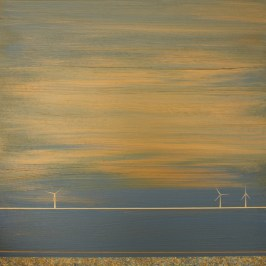 Wind Farm, Acrylic on Board, 20cm x 20cm