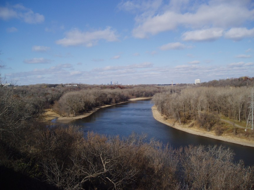 The Mississippi, near Fort Snelling