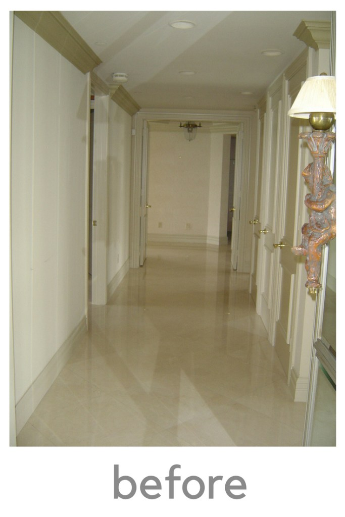 Transformation of a marble Hallway Renovation by Interior Designer Jill Shevlin, Marble Hallway, Casual meets Marble