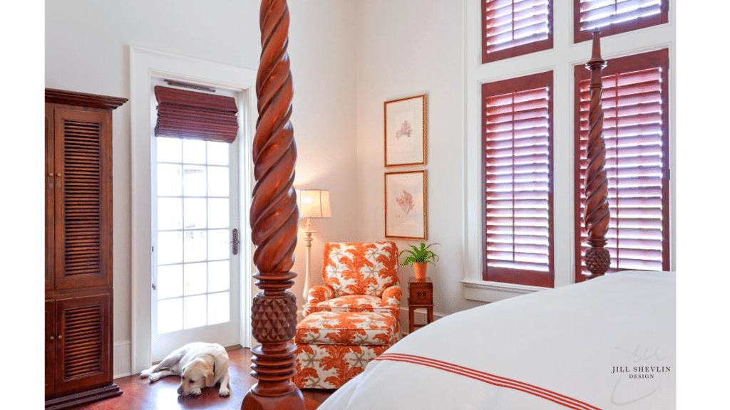 Jill Shevlin Design Coastal Bedroom Vero Beach Interior Designer Vero Beach Decorator