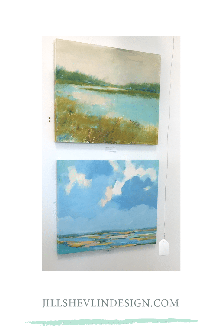 Jill Shevlin Design, Shop Vero Beach, Artwork by Beth Robison at Jill Shevlin Design Showroom Vero Beach