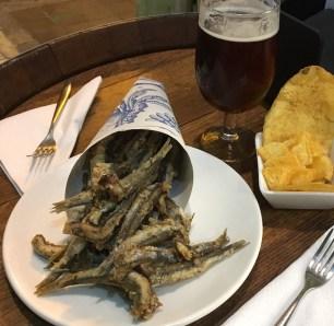 pescaditos fritos fried fish Freiduria Valencia Spain