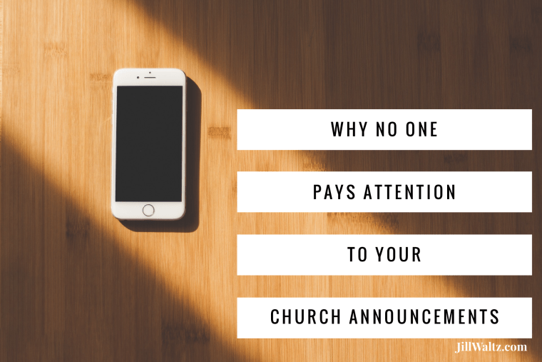 Why No One Pays Attention to Your Church Announcements