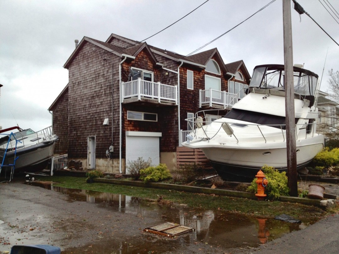 hurricane sandy boat in yard