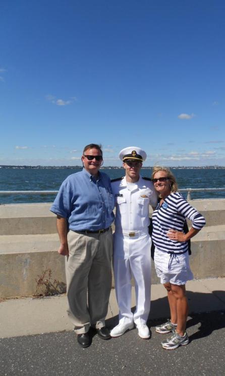 Our son Ben Jr., in the Merchant Marine Academy
