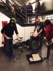 Musiker in der New Yorker Metro