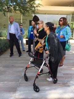 Students from the Braille Institute were invited to tour the historic estate