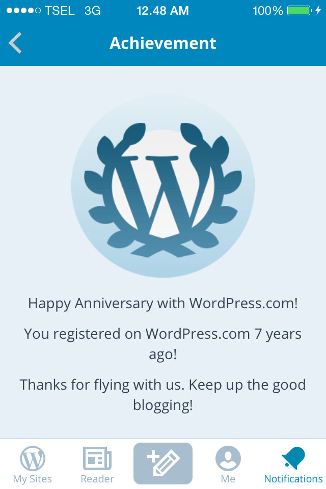 7 Years Happy Anniversary with WordPress.com