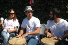 More drummers at Melrose/Heliotrope - cultural diversity I love about Los Angeles
