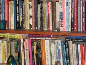 books, books on the shelf