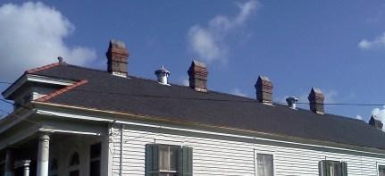 Roof symmetry.