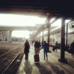 On the platform in Houston, TX