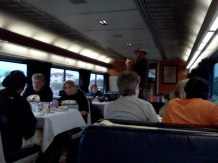 Before dinner in the Dining Car.