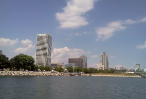 Milwaukee skyline from Lake Michigan