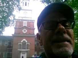 Blogger at Independence Hall