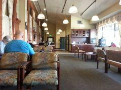 Exec. waiting room at Portland Station