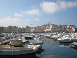 1599 Marseille Port With Basilica