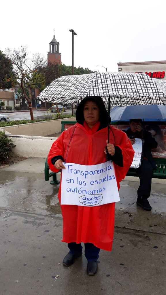 Protestor on Soto Street and Whittier Boulevard; PC: Namekian Blast