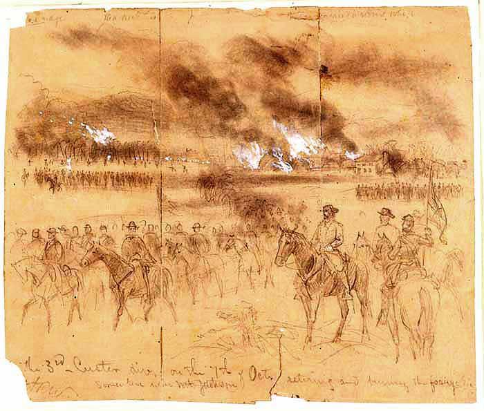 custer burning down shenandoah valley 1864 tlc0065