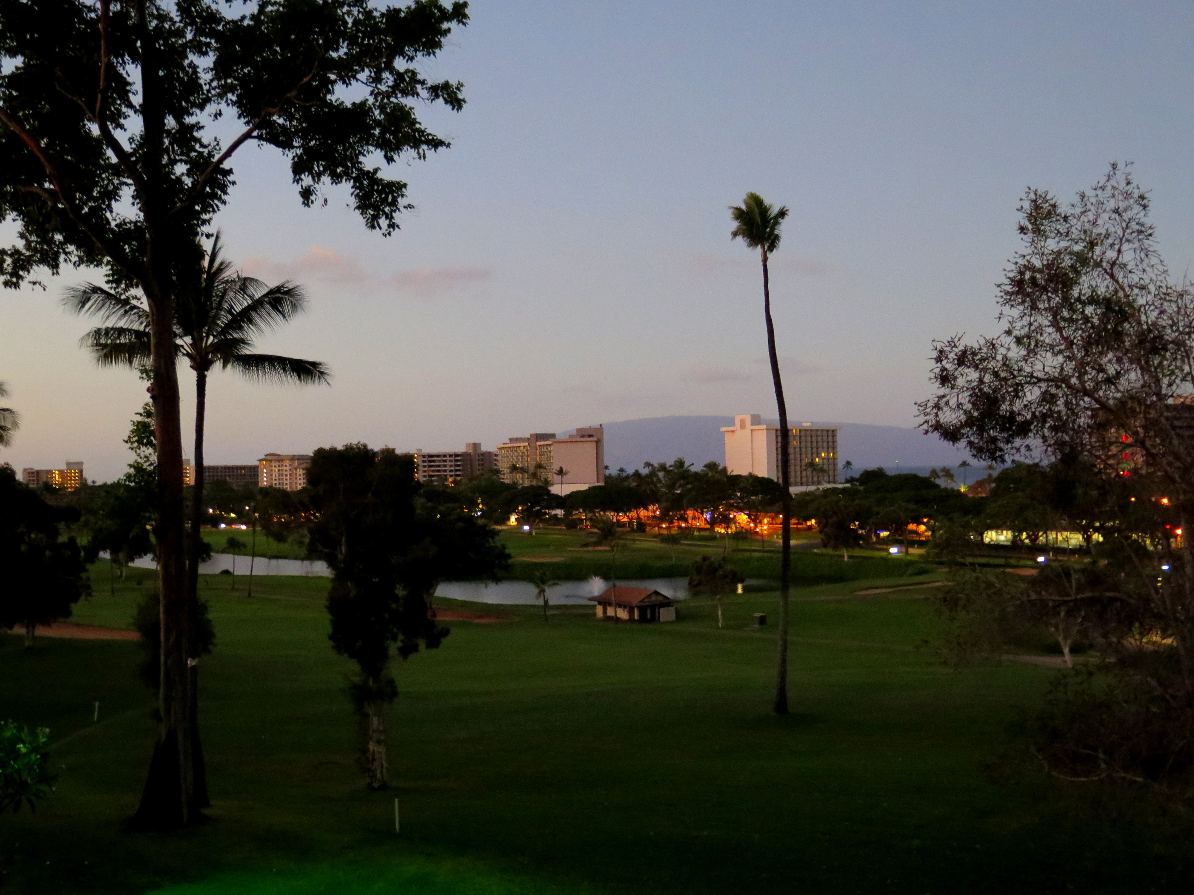 Many condos at Kaanapali Royal offer views of the golf course and the ocean, as well as the island of Lanai.