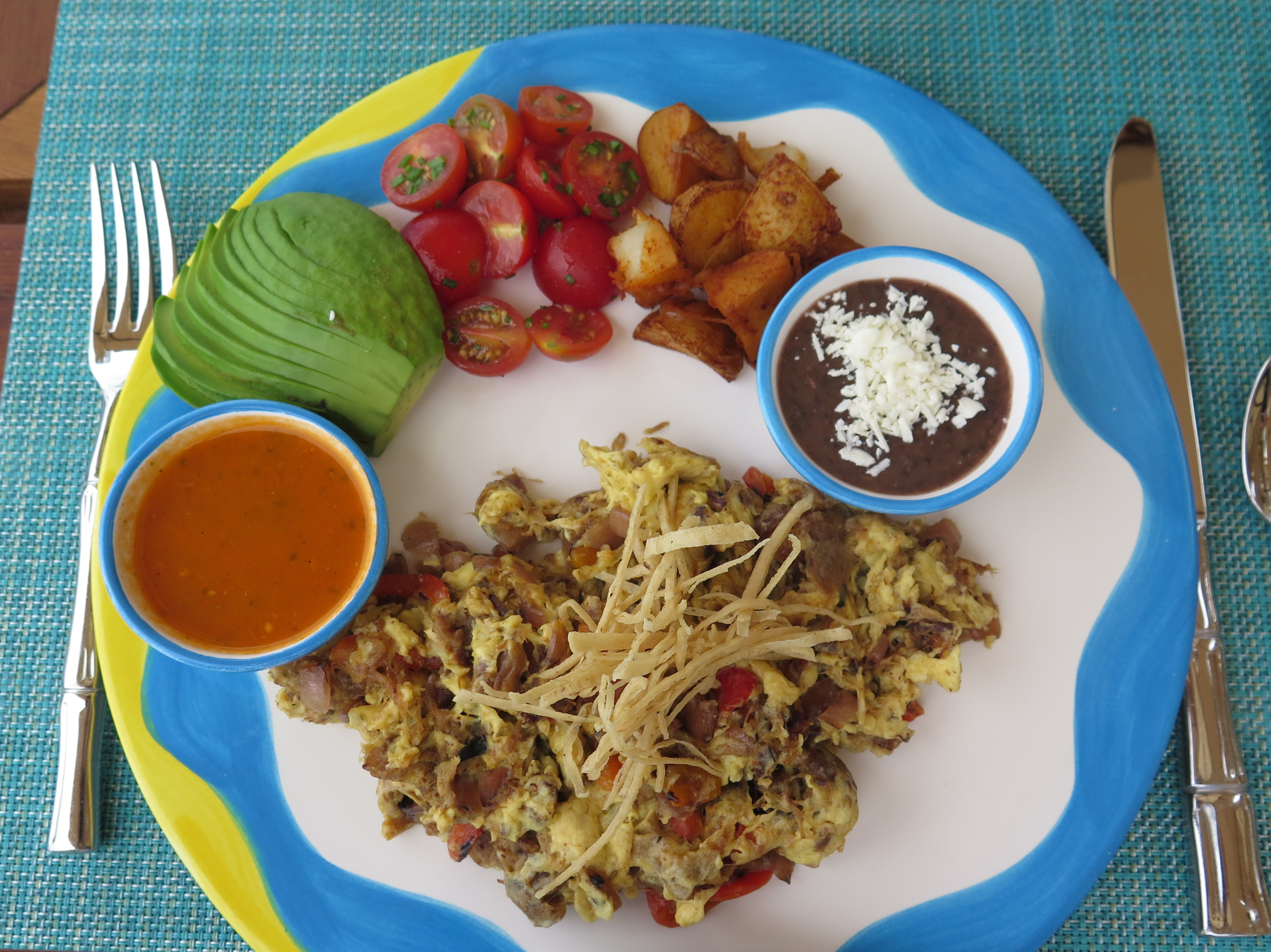 I loved my breakfasts at One&Only Palmilla. Here I have scrambled eggs with tasty, dried Sonoran beef as well as peppers and onions. Yum.