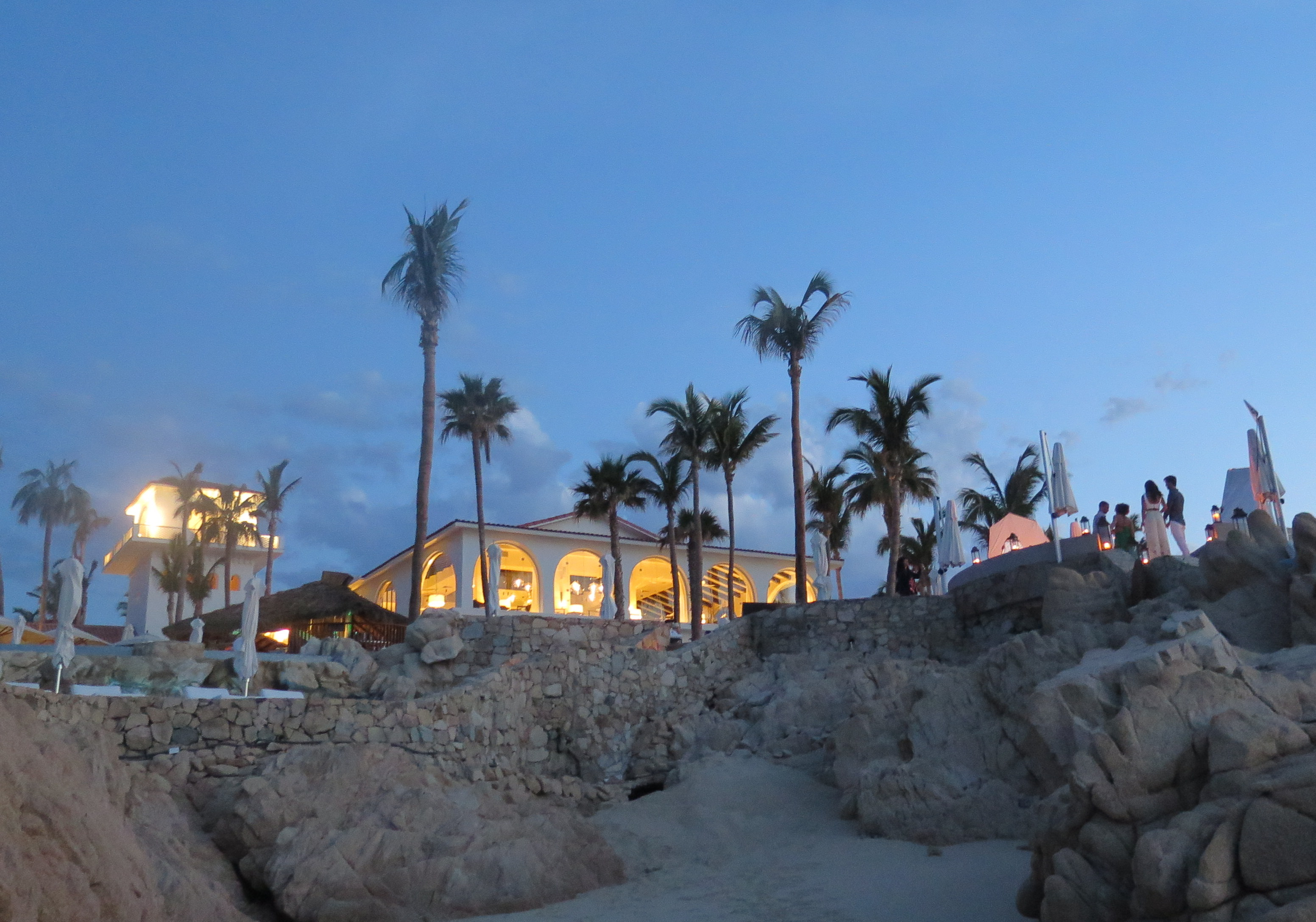 Sunset is a spectacular time to enjoy the seaside ambience at One&Only Palmilla.