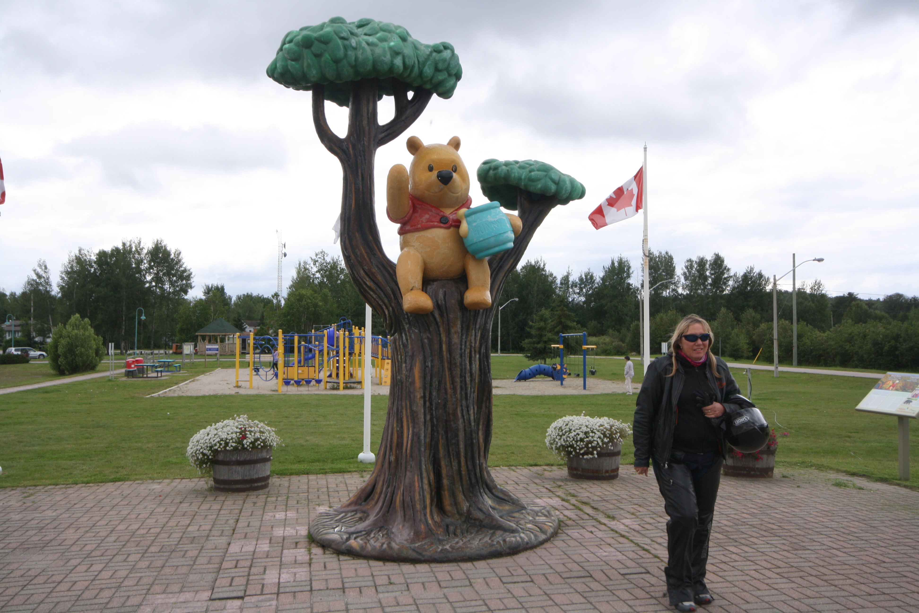 Kids will love the park and the Winnie-the-Pooh statue in White River. JIM BYERS PHOTO