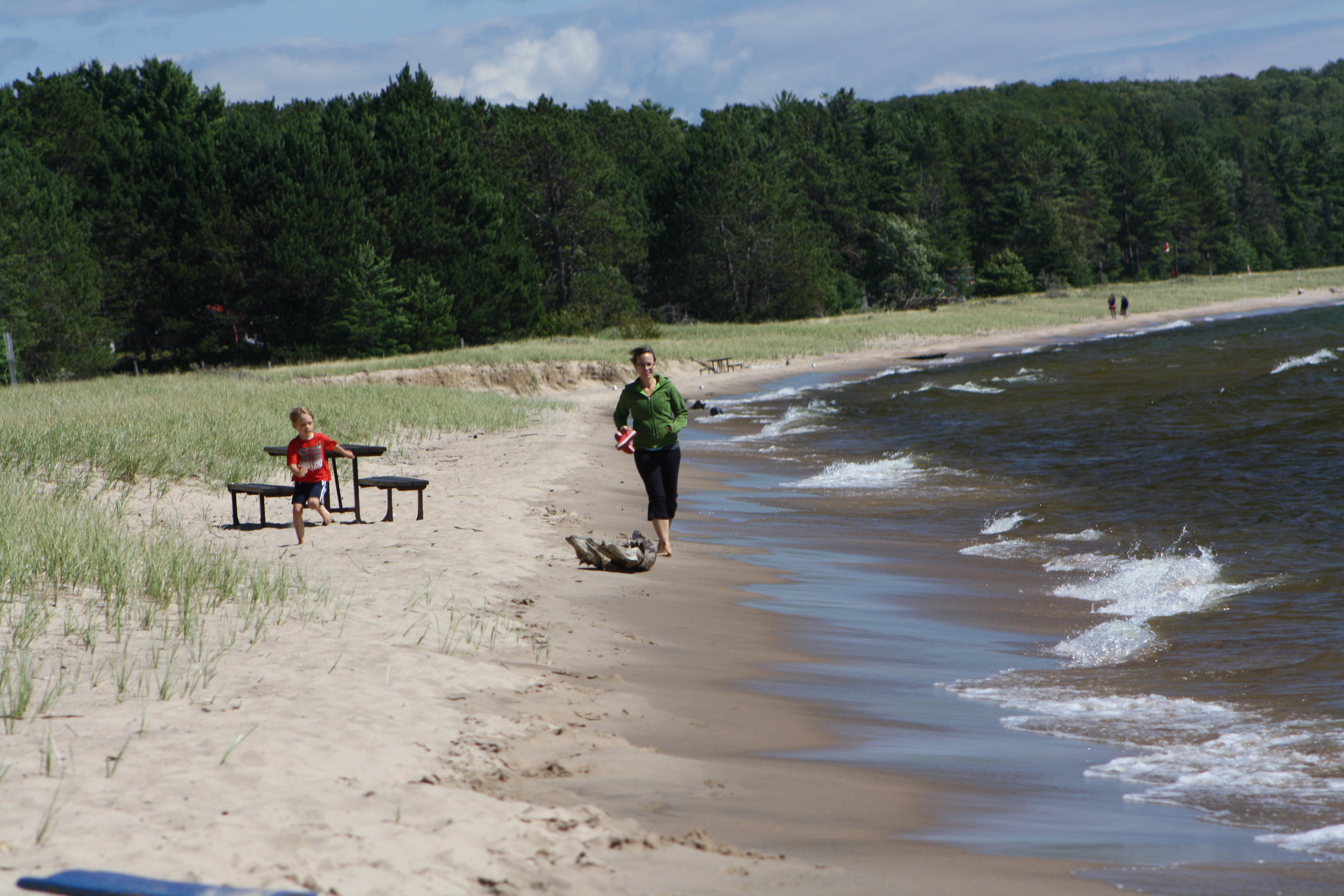 The Lake Superior shoreline also features tons of long, nearly empty beaches to explore. JIM BYERS PHOTO