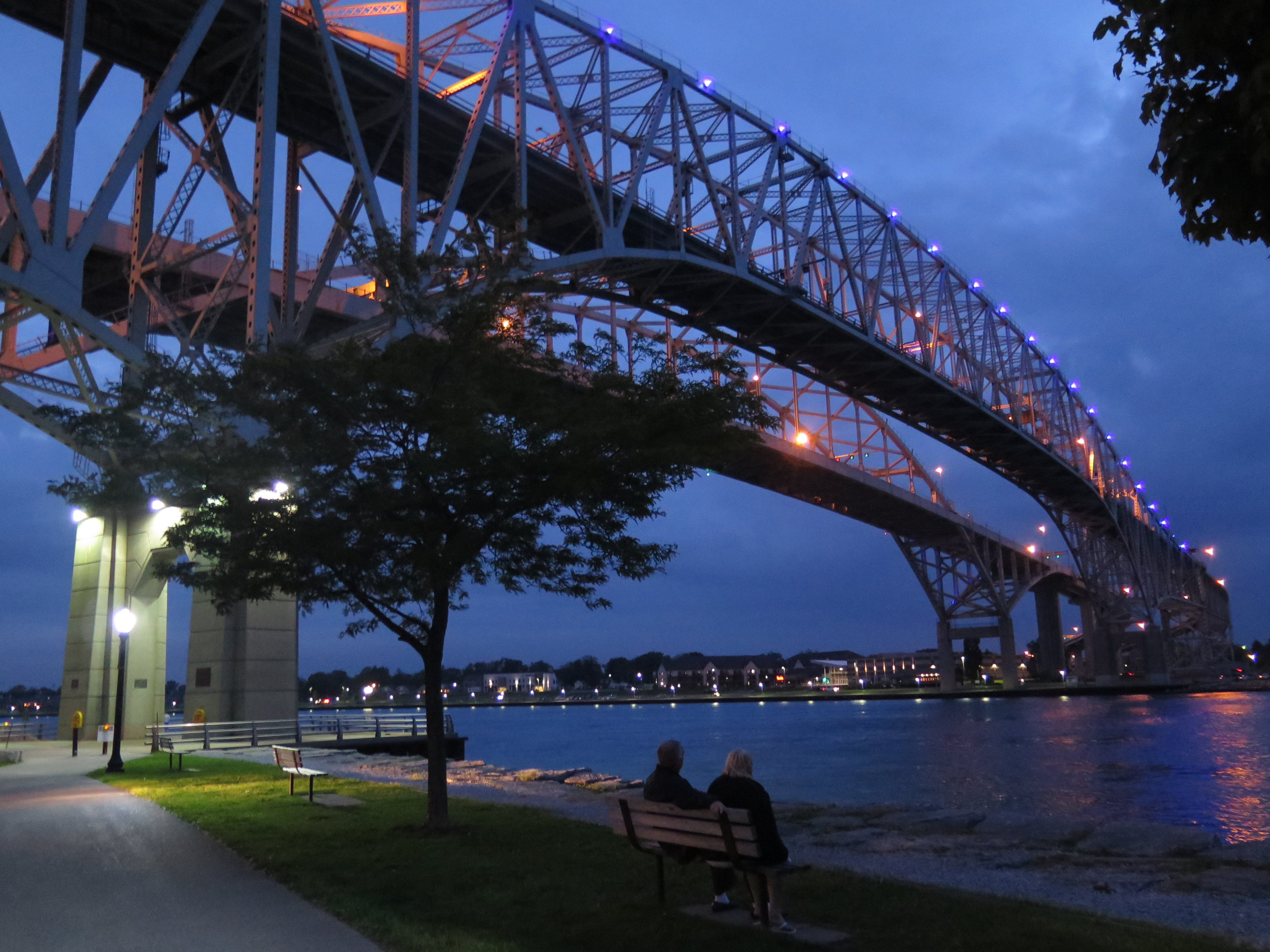 The Blue Water Bridge is a beauty, especially at dusk. JIM BYERS PHOTO