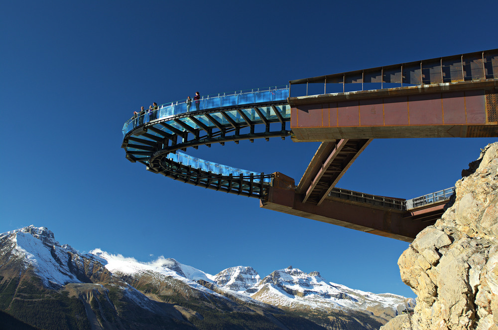 The Skywalk attraction takes you high out over a steep canyon between Jasper and Banff.  #Yikes. JIM BYERS PHOTO