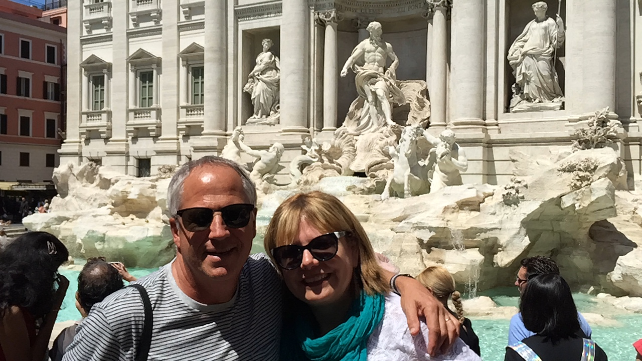 Barbara and I in Rome in early May of this year.