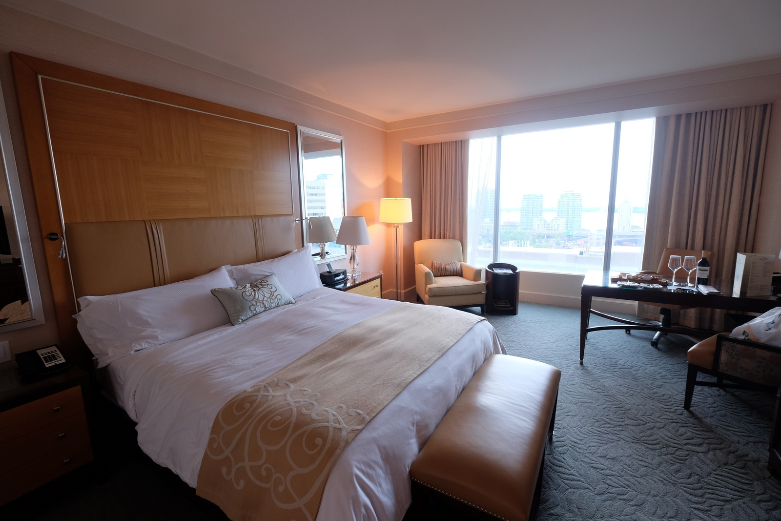 Rooms at the Ritz-Carlton Toronto are sleek and stylish, but still warm and inviting.