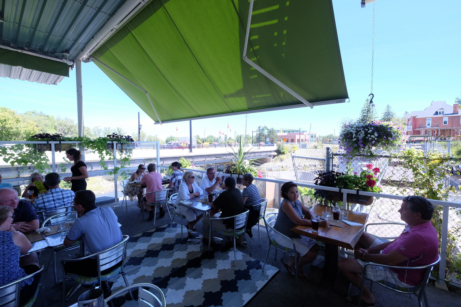 The Mill Cafe in Thornbury has a lovely patio overlooking the Beaver River. Try the pulled chicken tacos. JIM BYERS PHOTO