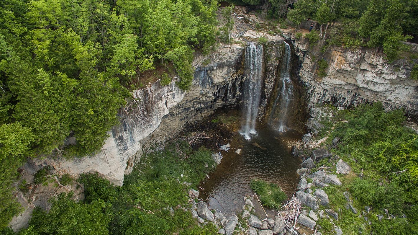 Eugenia Falls is an easily accessible spot near the village of Eugenia, near Flesherton. PHOTO COURTESY GREY TOURISM
