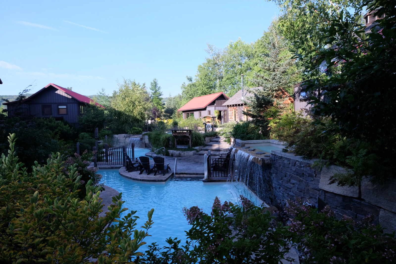 The Scandinave Spa at Blue Mountain is a perfect spot for soaking your cares away. - JIM BYERS PHOTO