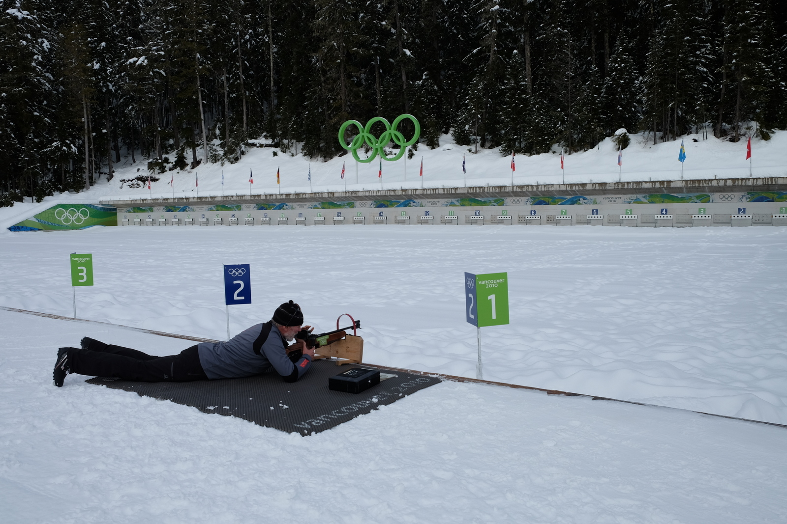 Try your hand - and eye - at the biathlon shooting range at Whistler Olympic Park. - JIM BYERS PHOTO
