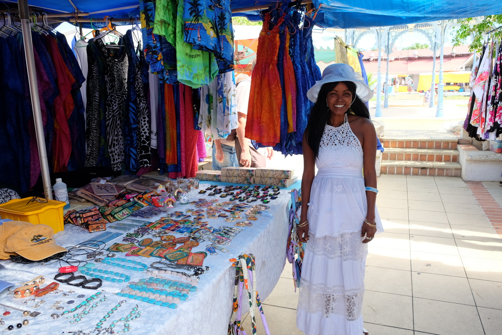 You can find all sorts of treasures at the markets in Marigot, St. Martin. You also might get a great smile. - JIM BYERS PHOTO