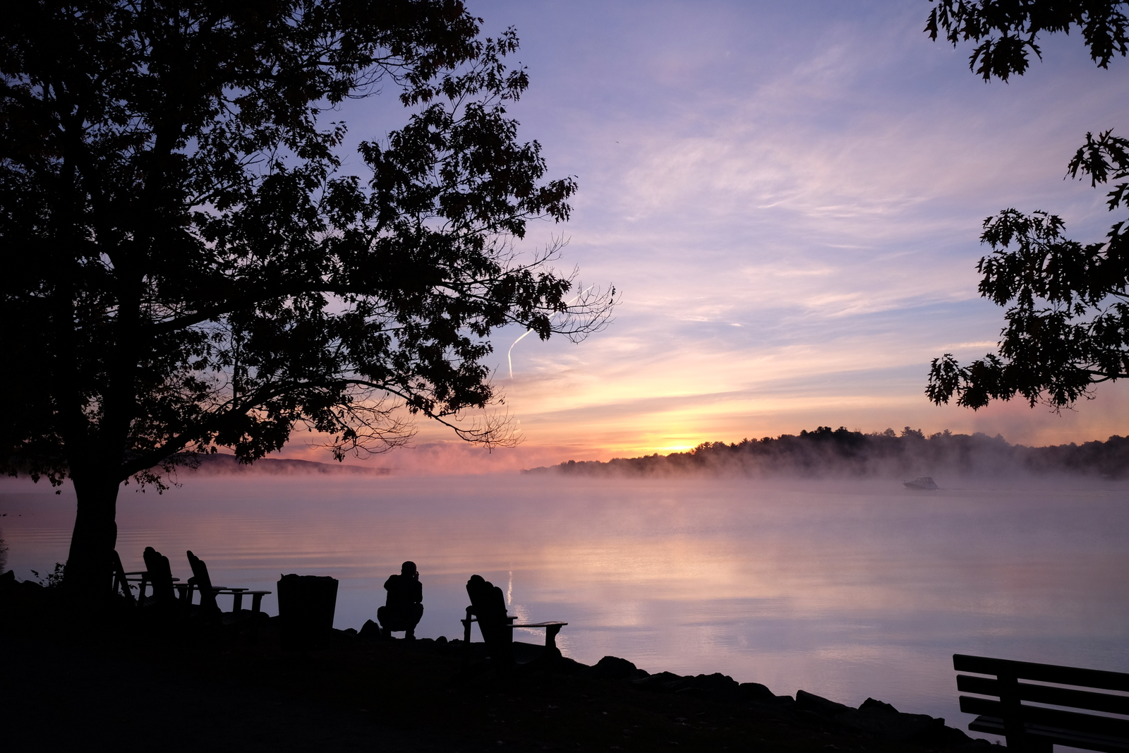 A glorious sunrise on the Ottawa River, taken from the grounds of the Fairmont Chateau Montebello. - JIM BYERS PHOTO