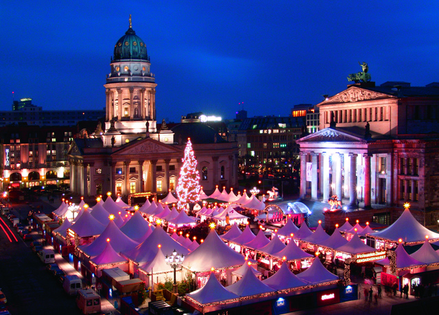 The Berlin Christmas market.