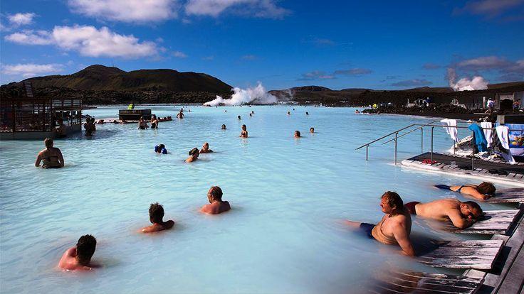 A natural bath soak in Iceland.