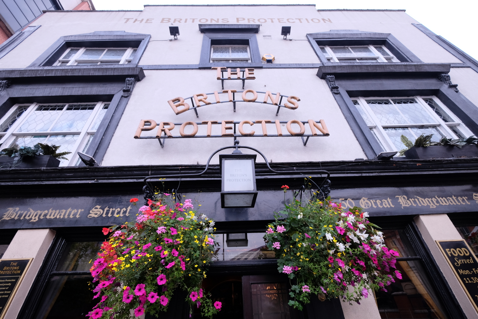 The Briton's Protection is one of many fine pubs in Manchester, England. - JIM BYERS PHOTO