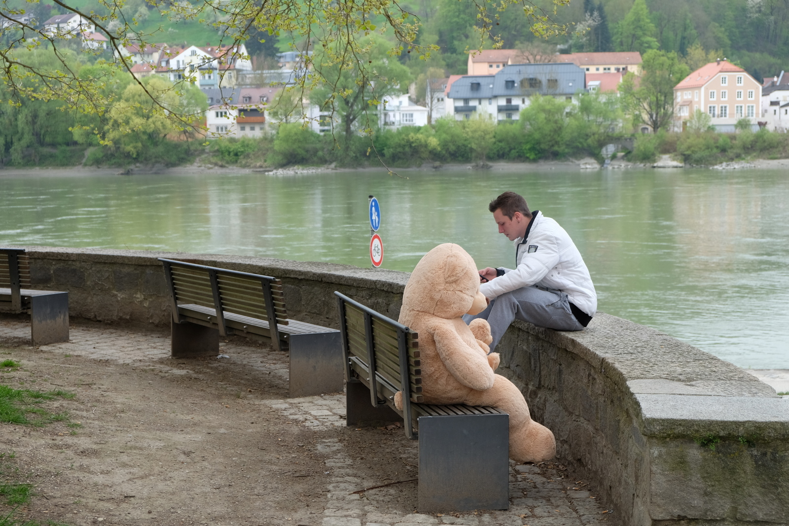I never did find out the story behind the giant stuffed bear in Passau, Germany. - JIM BYERS PHOTO