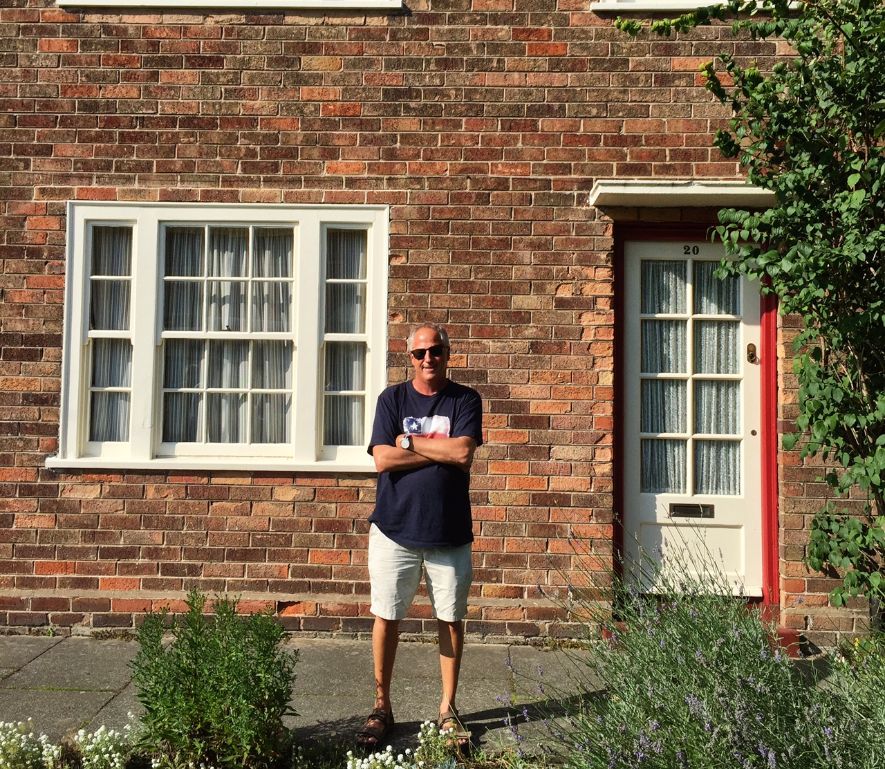 That's me in front of Paul McCartney's childhood home in Liverpool. - JIM BYERS PHOTO