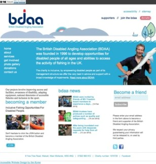 British Disabled Angling new website