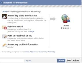Photo: Facebook Causes.
