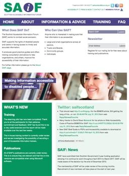 SAIF website screenshot