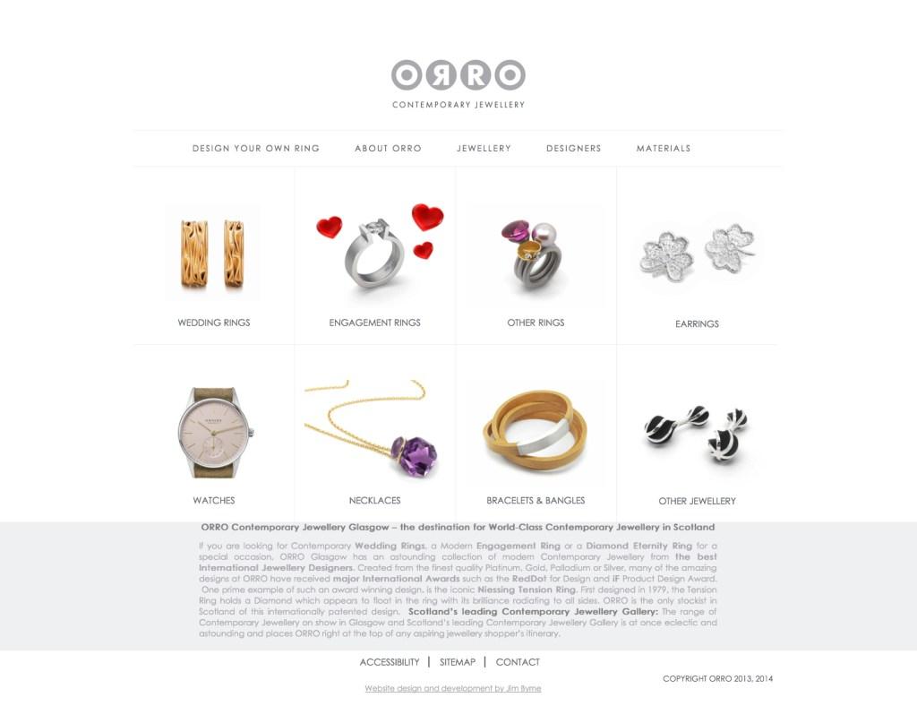39984bfe6 SEO Case Study: ORRO Contemporary Jewellery - Accessible Web Design ...